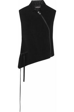 ANN DEMEULEMEESTER Metallic-paneled wool-blend vest