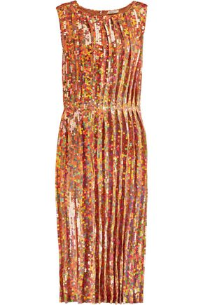 NINA RICCI Iridescent sequined georgette dress