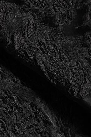 NINA RICCI Layered crepe and flocked organza midi dress