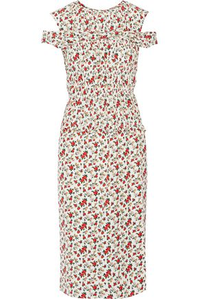 NINA RICCI Floral-print silk dress