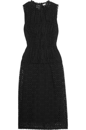 NINA RICCI Broderie anglaise cotton midi dress