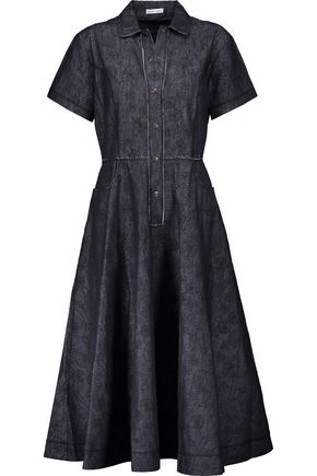 TOMAS MAIER Printed denim dress