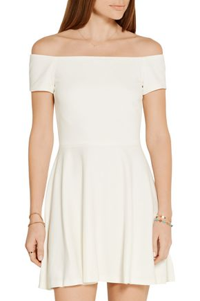 ALICE + OLIVIA Carisi off-the-shoulder stretch-jersey mini dress