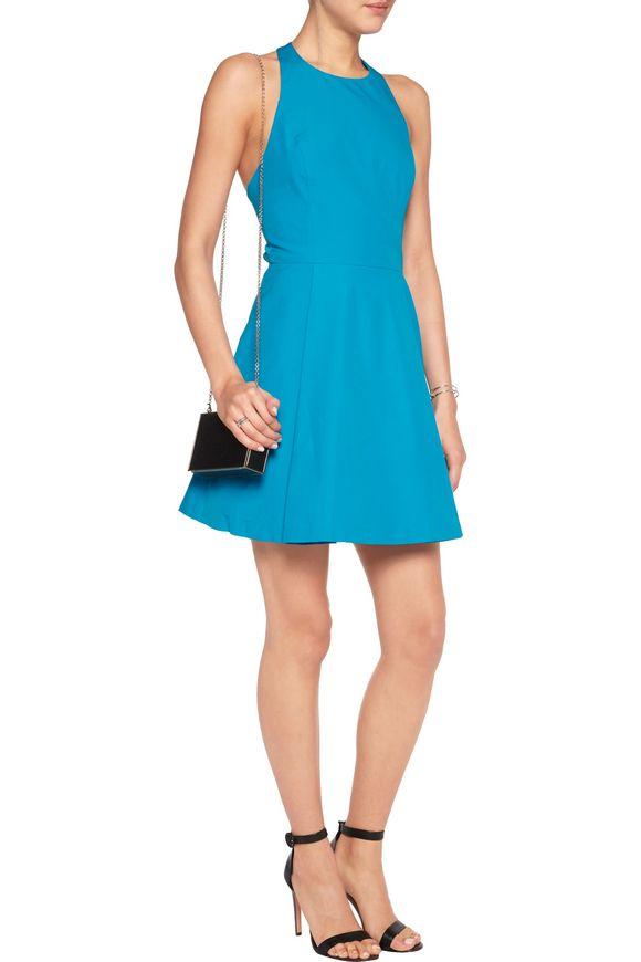 Christie cutout cotton-poplin mini dress   ALICE + OLIVIA   Sale up to 70%  off   THE OUTNET