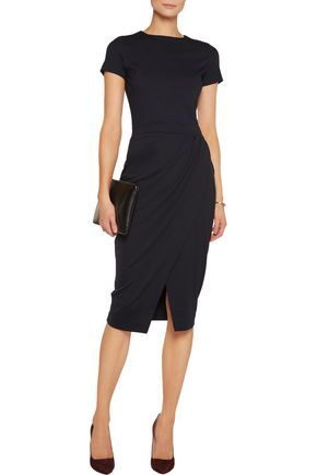 IRIS AND INK Amber wrap-effect ponte-jersey dress