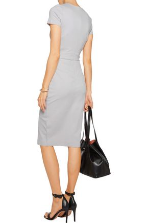 IRIS & INK Amber wrap-effect ponte-jersey dress