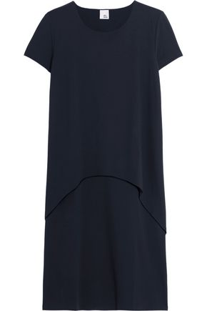 IRIS & INK Tiered stretch-jersey dress