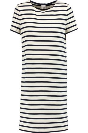 IRIS AND INK Daisy striped cotton mini dress