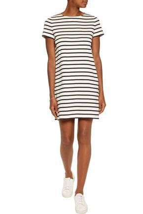 IRIS AND INK Daisy striped cotton mini dress