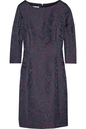 OSCAR DE LA RENTA Wool-blend jacquard dress