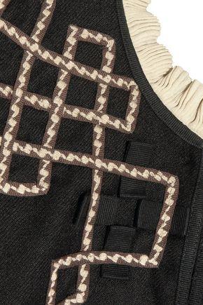 TALITHA Talia embellished appliquéd wool-twill jacket