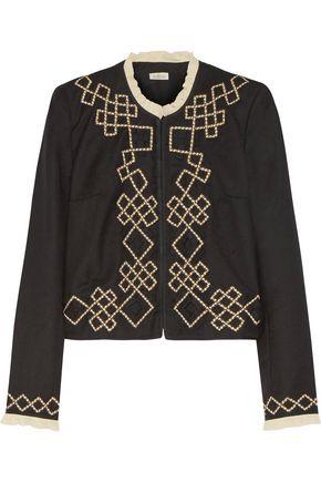 TALITHA Talia appliquéd wool-twill jacket