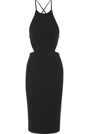 SOLACE LONDON Phoebe open-back crepe dress