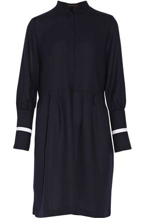 MOTHER OF PEARL Milly wool-crepe shirt dress