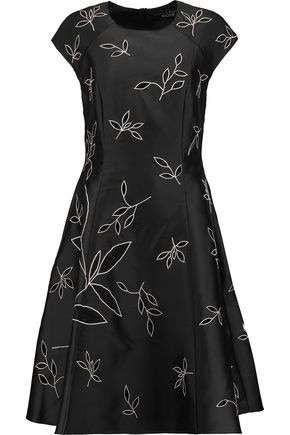SACHIN & BABI Ines cutout embroidered satin-twill dress