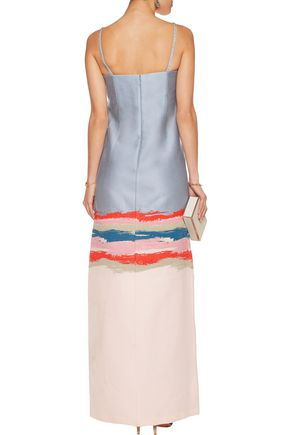 TORY BURCH Painterly crystal-embellished jacquard gown