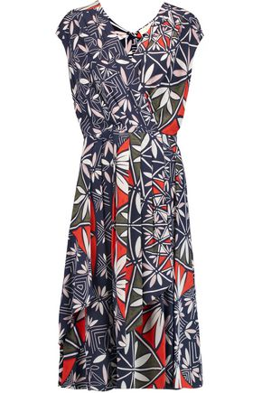 TORY BURCH Printed silk wrap dress