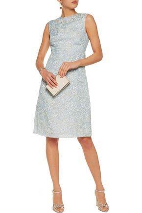 TORY BURCH Olinda embellished printed silk-organza dress
