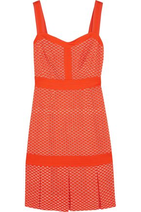 TORY BURCH Berdine broderie anglaise and twill dress