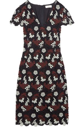 TORY BURCH Guipure lace mini dress