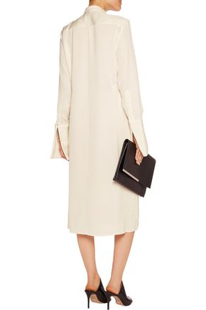 ELLERY Holy Unholy embellished satin-crepe dress
