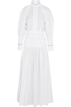 ELLERY Sword embroidered cotton dress