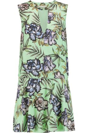 ALICE + OLIVIA Brook printed washed-crepe mini dress