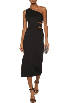 ALICE + OLIVIA Margo one-shoulder cutout stretch-jersey midi dress