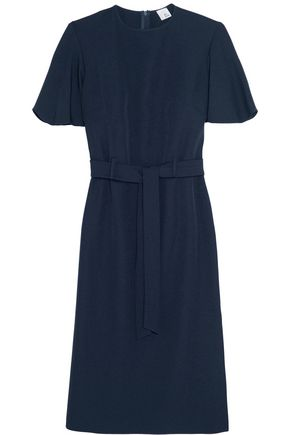 IRIS & INK Belted crepe dress