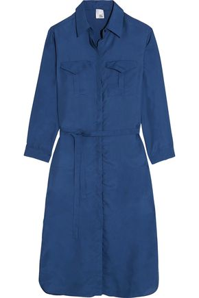 IRIS & INK Washed-silk shirt dress