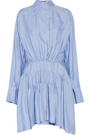 J.W.ANDERSON Open-back striped silk-satin dress