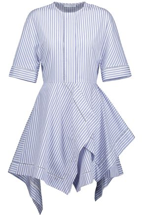J.W.ANDERSON Open knit-trimmed striped cotton-poplin dress