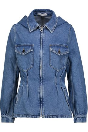 J.W.ANDERSON Gathered denim hooded jacket
