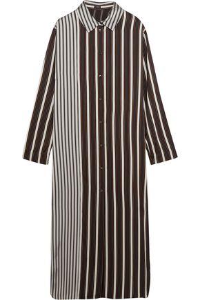 JOSEPH Hetty striped satin shirt dress