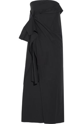 JOSEPH Strapless stretch-cotton poplin midi dress