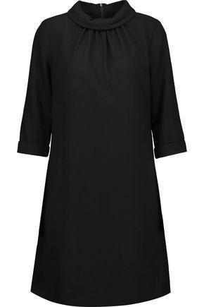 GOAT Gathered wool-crepe mini dress