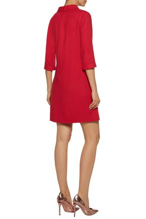 GOAT Gathered wool-crepe mini dress