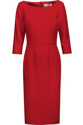 Goat WOMAN VENUS WOOL-CREPE DRESS RED