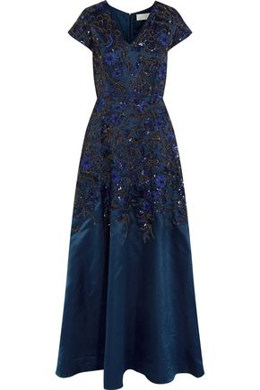 MIKAEL AGHAL Embellished satin gown
