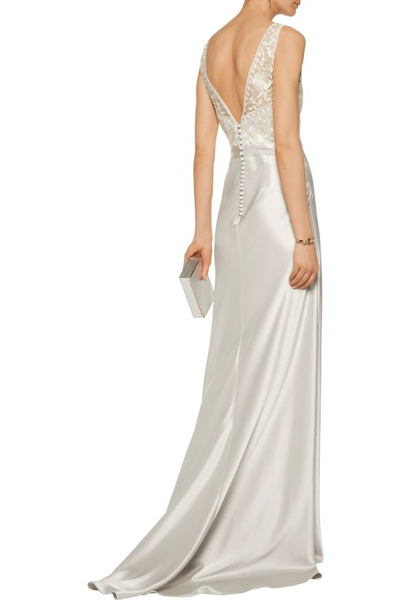Olivia embroidered satin gown | CATHERINE DEANE | Sale up to 70% off | THE  OUTNET