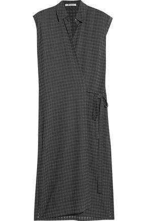 T by ALEXANDER WANG Plaid gauze wrap dress
