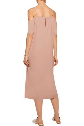 T by ALEXANDER WANG Cold-shoulder crepe midi dress
