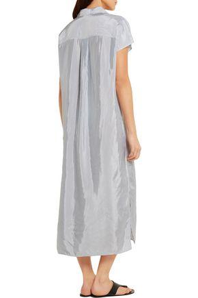 T by ALEXANDER WANG Striped satin shirt dress