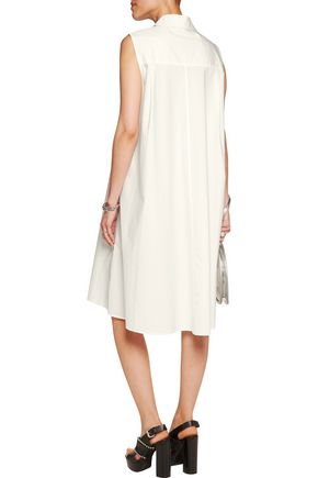 T by ALEXANDER WANG Cotton-poplin shirt dress
