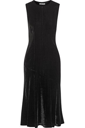T by ALEXANDER WANG Velvet midi dress