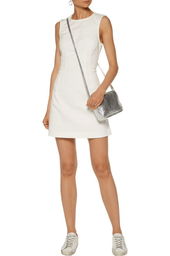 Cutout denim mini dress | T by ALEXANDER WANG | Sale up to 70% off | THE  OUTNET