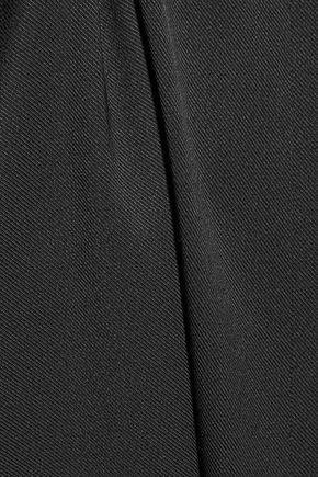 T by ALEXANDER WANG Pleated stretch-silk twill mini dress