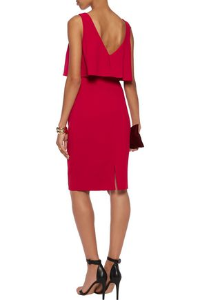BADGLEY MISCHKA Layered crepe dress