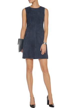 DIANE VON FURSTENBERG Carpreena suede mini dress
