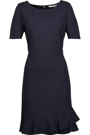 DIANE VON FURSTENBERG Serafina pleated ponte mini dress